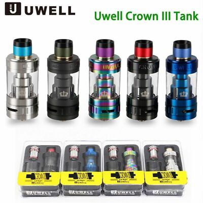 UWELL Crown 3 Sub Ohm Tank Atomizer Clearomizer Farben Tank / Coil 5ml H5CP09