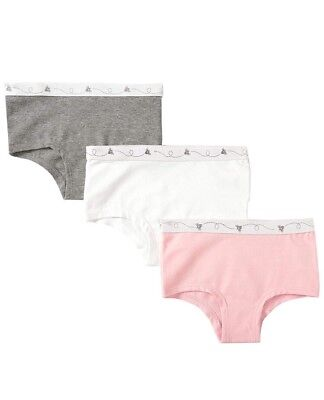 Burt's Bees Organic Underwear Set of 3 Hipsters UnderBees Toddler 4T/5T NWT