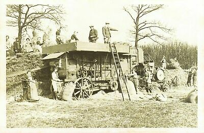 Nostalgia Postcard Threshing in Hertfordshire 1943 Reproduction Card NS22
