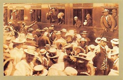 Nostalgia Postcard Boer War 1899 Soldiers Leaving for the Front Repro Card NS50