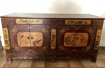 Sideboard Aus Tibet China Restauriert Massiv Antik
