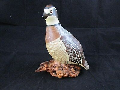 Chris Olsen, Bob White Quail Wood Carving - hand crafted