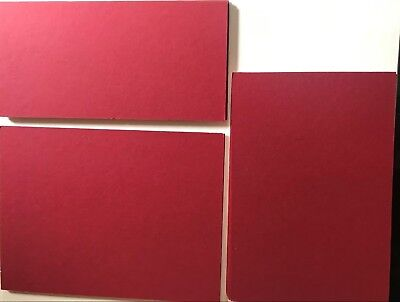 Pack 13 Dark Red Mountboard Mount Board Card Offcuts Three Sizes