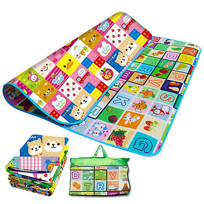 Kids Crawling Educational 2 Side Soft Foam Game Play Mat Picnic Carpet 200X180CM