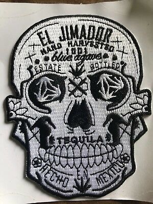 El Jimador (8)Tequila Sugar Skull Stick On Patches / (4) Wrist Band