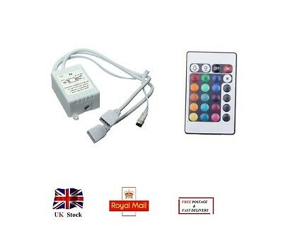 Infrared Radiation Receiver Double LED RGB Controll Box with 24 Keys Controller