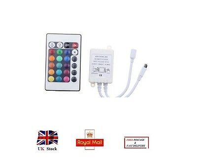 Infrared Radiation Receiver LED RGB Controll Box with 24 Keys Remote Controller