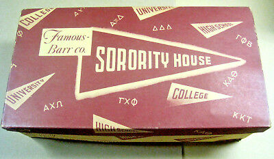 1948 Famous Barr Co. Sorority House Collegienne Footwear Shoe Box