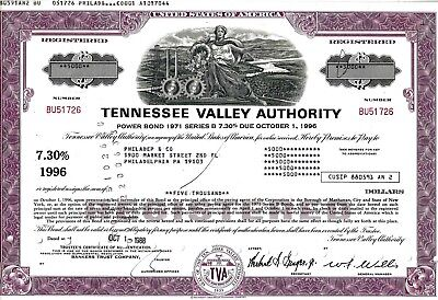 Tennessee Valley Authority, 1988,  7,30% Power Bond Ser. B due 1996 (5.000$)