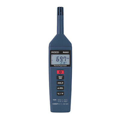 Thermo-Hygrometer, -4 to 140°F (-20 to 60°C), 0-100%RH REED INSTRUMENTS R6001