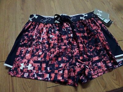 bnwt girls  under armour shorts-size ylg loose fit pink& blue