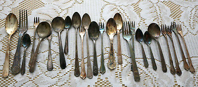 Vintage Mixed Silver Plated/Sterling Flatware