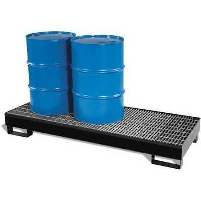 "BLACK DIAMOND ECO SOLUTIONS 4064-BD Drum Spill Containment Pallet,69"" H"