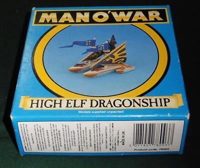 Rare OOP Citadel GW Man O' War metal Boxed High Elf flagship - Dragonship