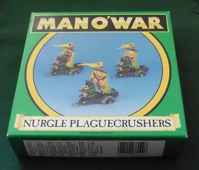 OOP Citadel GW Man O' War metal BOXED Nurgle Plague Crusher Squadron 3 models.
