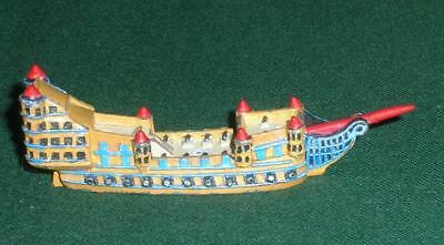 Rare OOP Citadel GW Man O' War painted metal Bretonnian Great Galleon