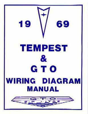 OEM Repair Maintenance Wiring Schematics Bound Pontiac Gto, Lemans, Tempest 1969