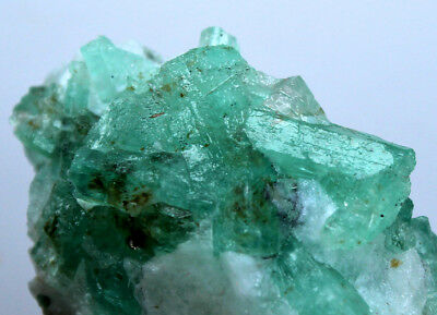 76 CRT Full/w terminated top quality top green Emerald crystals bunch from @AFG