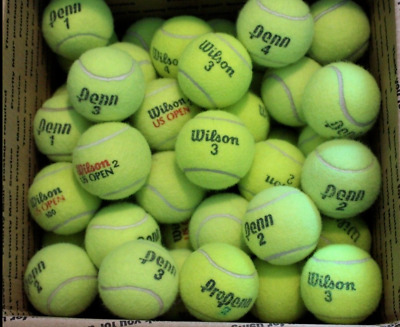 100 Used Tennis Balls Mixed Brands Good Quality Dog Fetch Toy Chairs Practice