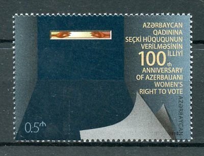 Azerbaijan 2018 MNH Women's Right to Vote 1v Set Elections Voting Stamps