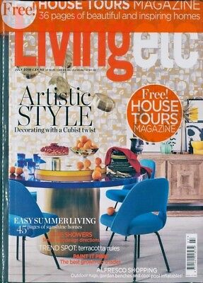 Living Etc Magazine July 2018 With Free House Tours Mag ~ New ~