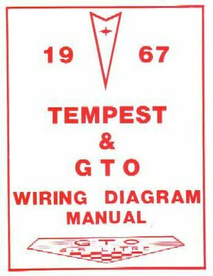 OEM Repair Maintenance Wiring Schematics Bound Pontiac Gto, Lemans, Tempest 1967