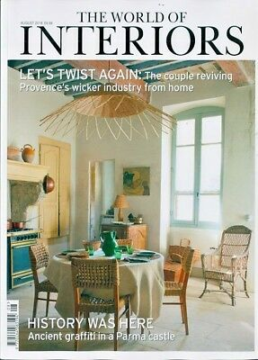 The World Of Interiors Magazine Issue August 2018  ~ New ~
