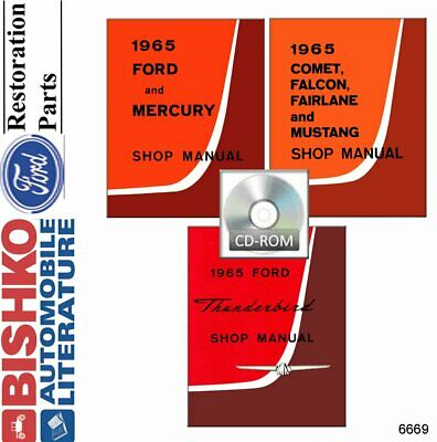 OEM Shop Manual CD Ford Fairlane/Falcon/Mustang/Ranchero/Comet 1965