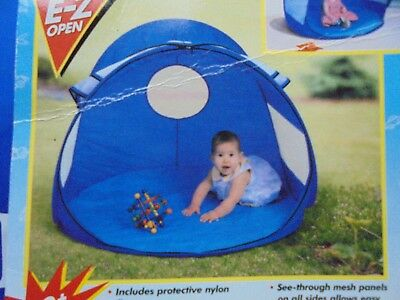 Kel-Gar Kids Baby Sun Protection Play Shade Dome Tent 50+ UPF Blue