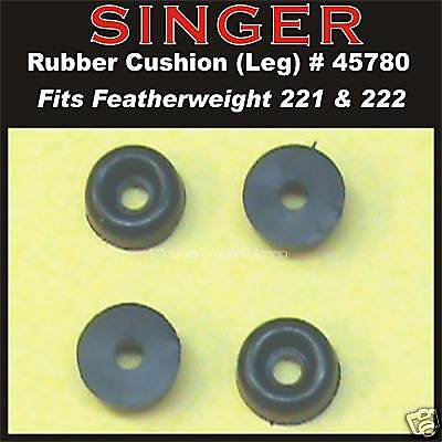SINGER GENUINE Featherweight 221 222 301 Bed Cushion Rubber Feet (4) 45780 NEW!!