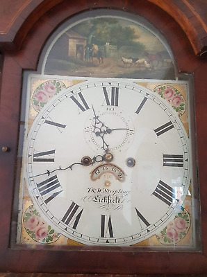 Antique Grandfather Clock. by Thomas Stripling. T&W Stripling. Lichfield.