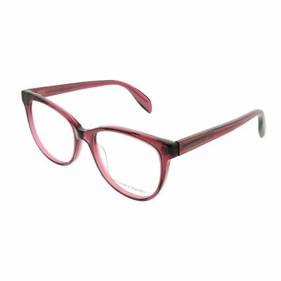 42642df3e0 Alexander McQueen Iconic AM0114O 003 Pink Plastic Cat-Eye Eyeglasses 53mm