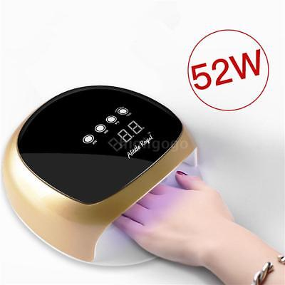 52W LED Nail Lamp Automatic Sensing UV Quick Dry Nail Lighting For Gel Curing