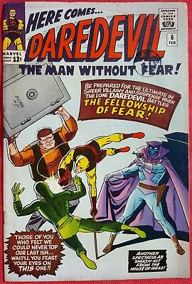 DAREDEVIL 6 MARVEL SILVER AGE 1967 WALLY WOOD ART 1st app and origin of Mr. Fear