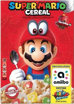 New Super Mario Cereal For Nintendo Switch Odyssey Amiibo Free World Shipping