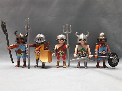 Playmobil Colosseum Figuren Römer Arena Cäsar 5 x GLADIATOREN Customs*Y10