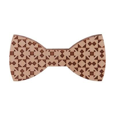 3X(Wood Bow Ties For Men Wooden Mens Bow Ties for Wedding Party Yarn Butter N2P1