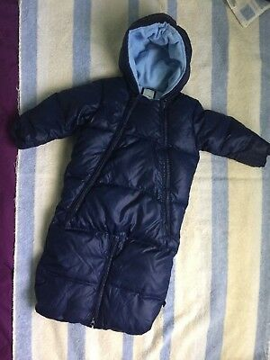 EUC Baby Gap Navy Blue Snow Suit Size 6-12 Months  Snowsuit Free Shipping!