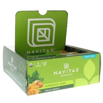 Navitas Organics Superfood Bars Maca Maple 12 Bars 16.8 oz (480 g)