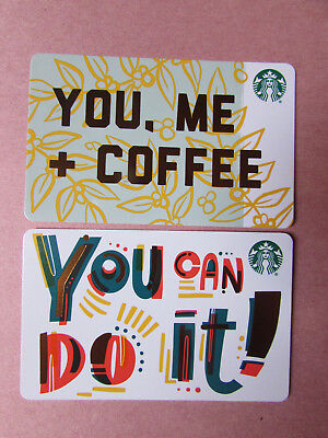 Starbucks Canada 2018 You Me Coffee & You Can Do It Gift Cards no value