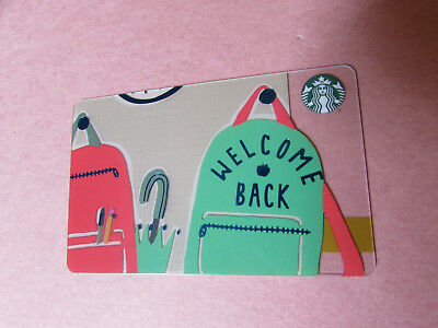 Starbucks Canada 2018 Welcome Back School Backpack Gift Card no value