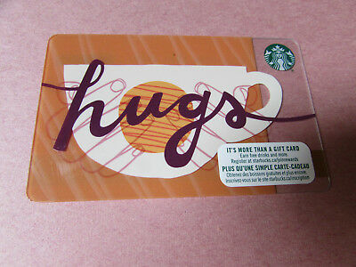 Starbucks Canada 2018 Hugs Coffee Cup Gift Card no value