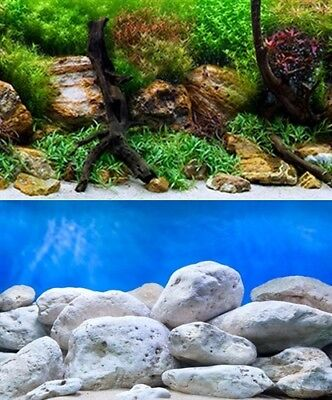 poster fond aquarium reversible 150 X 45 CM  bright/aqua