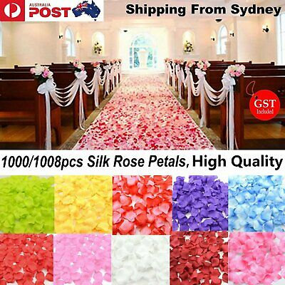 1000X Wedding Silk Rose Petals Bridal Flowergirl Basket Fake Flower Decoration