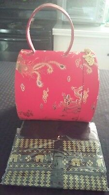 Oriental red gold Hat box Tissue box black gold Elephant cover