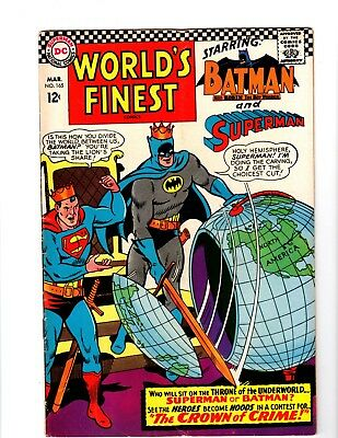 Worlds Finest 165 comic, DC, Batman, Superman, 1967, VG/FN!