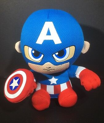 730d7bbf918 Marvel Comics CAPTAIN AMERICA Stuffed Plush Ty Beanie Babies Doll 6