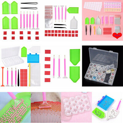 5D Diamond Painting Cross Stitch Tool Sticky Pens Tweezer Box Accessories Kit