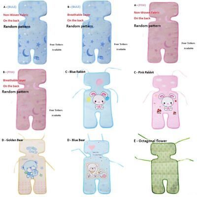 Baby Kids Stroller Car Seat Ice Silk Mat Pushchair Cool Liners Pad Mat Cushion