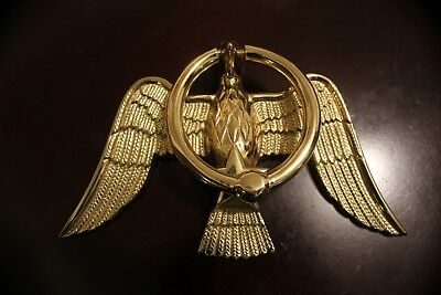 Vintage MONNCELLO Forged Brass AMERICAN EAGLE DOOR KNOCKER LOOKS AWESOME BRIGHT!